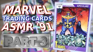 ASMR - MARVEL TRADING CARDS, 1991 SET, Part 3 - Whispering, Mouth Sounds, Candy Sounds