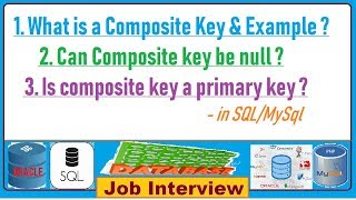 13. What is a Composite Key & Example in SQL/MySql ?