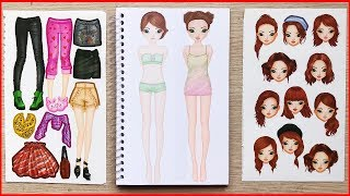 Top fashion model doll stickers part 1 - Sticker doll top model (Chim Xinh)