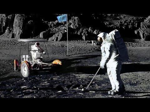 NASA Apollo Astronauts Playing Golf on the Moon