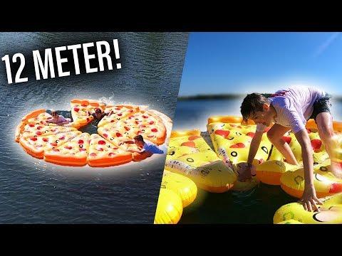 RIESIGE aufblasbare PIZZA-Insel auf SEE! 🍕