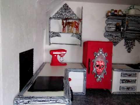 Witch, miniature Dollhouse. Hexen Puppenhaus.
