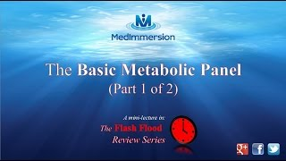"The Basic Metabolic Panel, ""The BMP"", (part 1 of 2)"