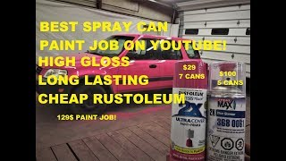 Spray painting my wife's ENTIRE CAR WITH SPRAY CAN PAINT!