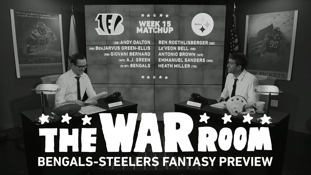 Bengals vs Steelers Sunday Night Football Fantasy Preview - The War Room thumbnail