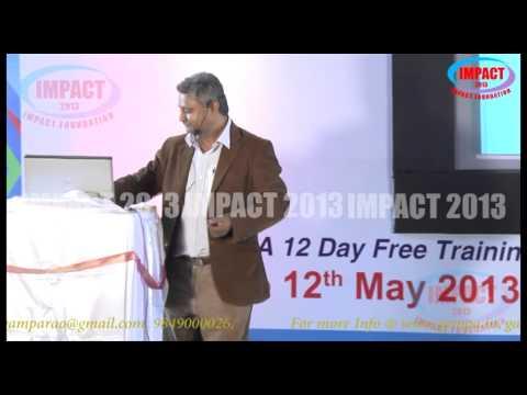 Get your Job|Ramesh Vemuganti|TELUGU IMPACT Hyd 2013