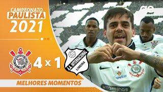 CORINTHIANS 4 X 1 INTER DE LIMEIRA | MELHORES MOMENTOS | QUARTAS DE FINAL PAULISTA 2021 | ge.globo