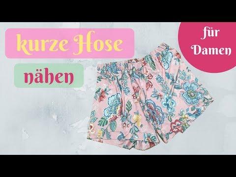 Nähe eine Sommerhose / kurze Hose / Shorts  - kostenloses Schnittmuster für Anfänger