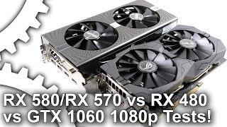 [1080p] Radeon RX 580/ RX 570 vs RX 480/ GTX 1060 Gaming Benchmarks