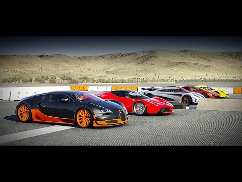 World's Greatest Drag Race! Koenigsegg One:1 vs Veyron SS, Venom GT, LaFerrari, McLaren P1 - Forza 6