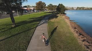 Team Gee Skateboard and a DJI FPV drone having some fun..