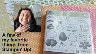 My Stampin Up 2016 Annual Catalog Favorites