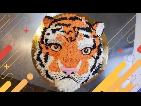 Как сделать торт в виде тигра