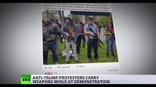 All guns blazing? Anti-Trump protesters tote rifles at demonstration in Arizona