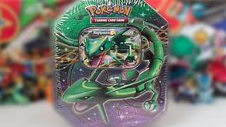 Opening A Black and White Rayquaza EX Tin!!