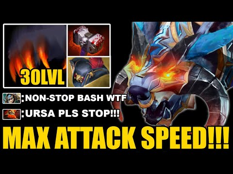 CRAZY MAX ATTACK SPEED URSA PIRATE HAT + 30LVL Talent Non-Stop Bash Epic Gameplay 7.26 Dota 2