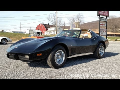 1977 Black Corvette Tan Int T Top 4spd For Sale Video