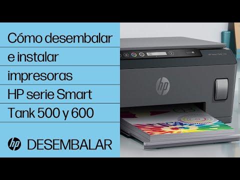 Cómo desembalar e instalar impresoras HP serie Smart Tank 500 y 600