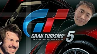 Gran Turismo 5 - First Car + B Licence Suffering   FT. Special Guest (Not Kaz)