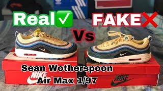 Nike Air Max 1/97 Sean Wotherspoon REAL VS FAKE (UA) Comparison (@hey_ozzy on Instagram)