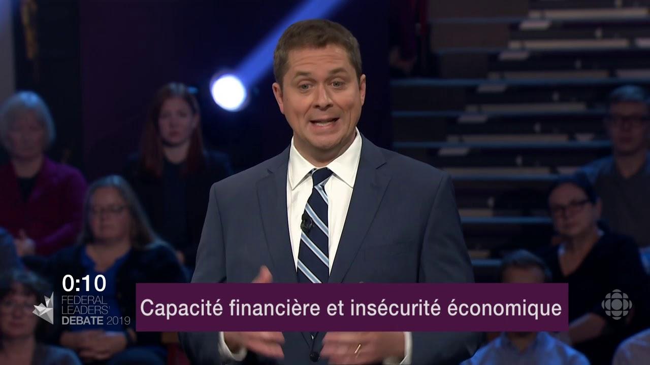 Andrew Scheer répond à une question sur les inégalités de revenu et le coût de la vie