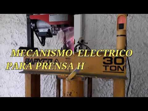 Mecanismo eléctrico para prensa hidráulica