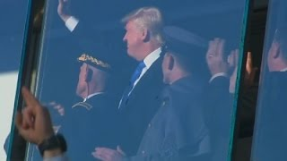 Raw: Trump Cheered at Army-Navy Game