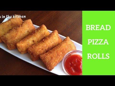 Bread Pizza Roll Recipe - Homemade Pizza Bread Roll by (HUMA IN THE KITCHEN)