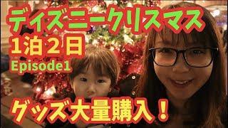 ディズニークリスマス1泊2日!グッズ大量購入!inディズニーランド&シー!!episode1