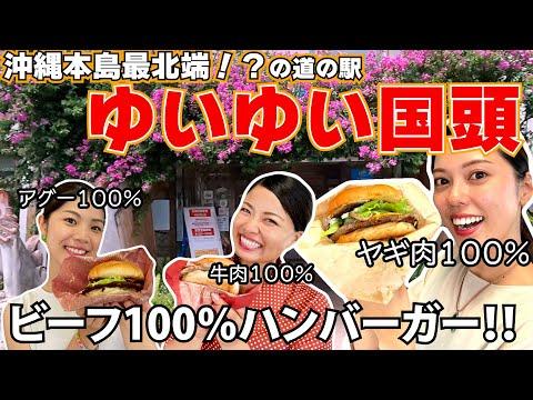【道の駅シリーズ】「道の駅」ゆいゆい国頭のヤギ肉のハンバーガーが美味しい!!!