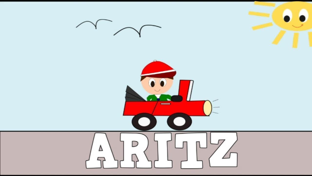 Aprender a Leer y Escribir ARITZ - Vídeos educativos para Niñosy Bebés - Paty y Poty