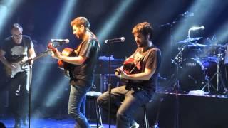 Estopa en Chile 2015 David no sabe afinar su guitarra, Tan Solo y Fin de semana