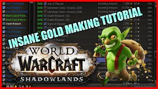 Easiest FAST way to fish gold at Auction WoW Shadowlands! 3000g+ PER SECOND EASY TUTORIAL!!