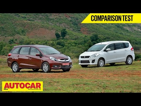 Honda Mobilio VS Maruti Suzuki Ertiga | Comparison Test | Autocar India