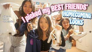 i picked my best friends homecoming looks *REVEAL* | Vanessa Nagoya