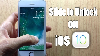 """Bring back """"Slide To Unlock"""" to your Device iOS 10 - 10.3.3 (Check The Description)"""