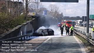 19.04.2019 – Voldsom brand i bil – Gentofte