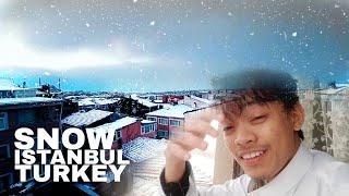 SNOW IN ISTANBUL TURKEY    الثلج في إسطنبول   Perasaan bila Salji Turun   VLOG   2020