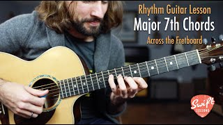 How to Play Maj7 Chords Across the Fretboard!