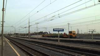 preview picture of video 'E652.123 su un curioso Rolling TME 37918, in transito a Campoleone'