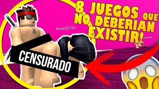 8 NUEVOS JUEGOS QUE NO DEBERIAN DE EXISTIR En ROBLOX Y QUE NO CONOCIAS!!
