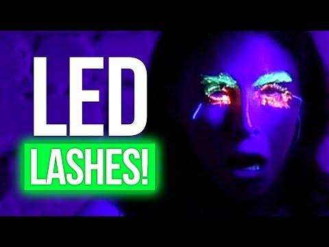 LED Eyelashes FAIL w/ JOJO SIWA! (Beauty Break)