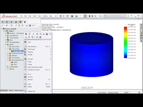 Electrostatic Simulation with Parametrization