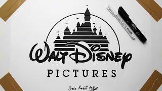 Disney Logo Drawing - Fan Art Cartoon
