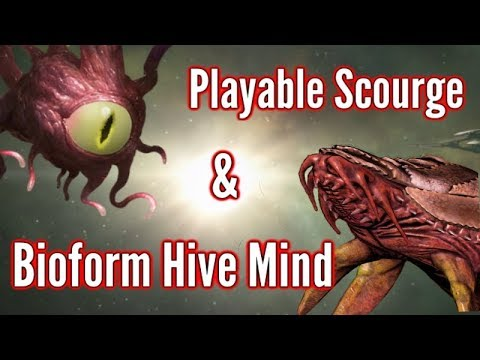 Playable Scourge & Bioform Hive | Stellaris Mod Showcase & Gameplay!!