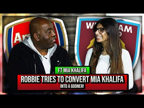 Mia Khalifa (West Ham Fan) featured on Arsenal Fan TV... this is one of the weirdest things i've ever seen