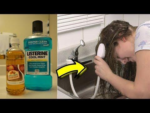 Sie kippt sich Zahnspülung auf ihre Haare, was dann passiert hat uns umgehauen!