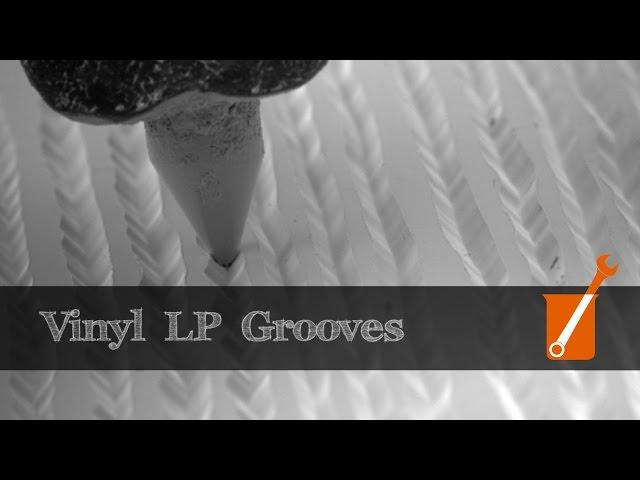 Electron microscope slow-motion video of vinyl LP