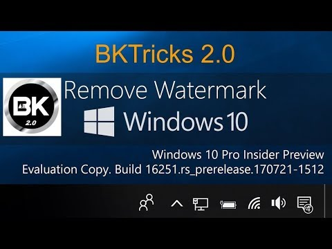 How to remove the Evaluation Copy watermark from Windows 10