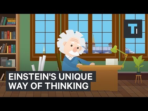 Einstein's unique way of thinking contributed to his genius